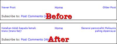 Cara Mengganti Newer Older Post dengan Judul Posting